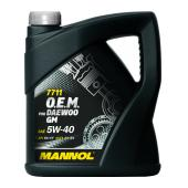 7711 MANNOL O.E.M. for DAEWOO GM 5W-40 4 л. Синт. моторное масло